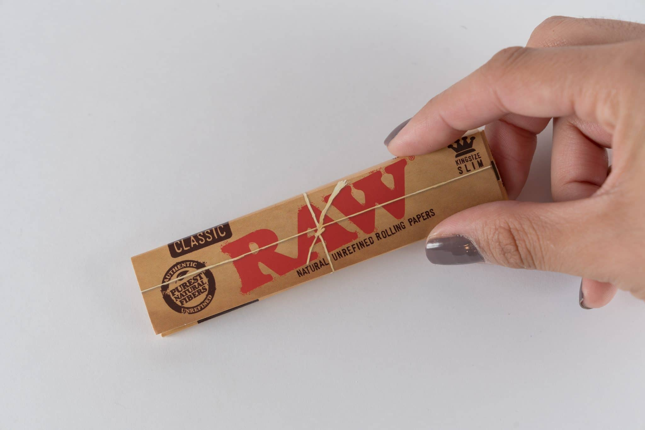 Organic Kingsize RAW papers for rolling your own. Kingsize Slim Cases available from DispensarySource.com.